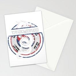 Taekwondo Shirt Martial Arts Gift Dragon Korean Flag T-Shirt Stationery Cards
