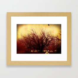 Bee Tree Framed Art Print