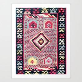 Sarkoy  Antique Bulgarian Kilim Print Art Print