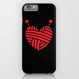 Knitting Wool I Love Knitting Heart Symbol iPhone Case