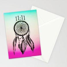 11:11 Eleven Eleven Spiritual Dream Catcher Stationery Cards