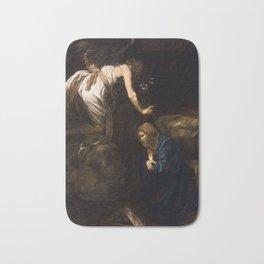 Annunciation by Caravaggio (1608) Bath Mat