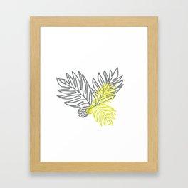 Ulu Forest Green and Grey Framed Art Print