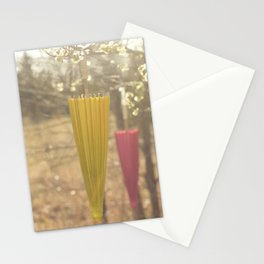 Pink Lemonade Parasol, Umbrella, Nature, Bokeh  Stationery Cards