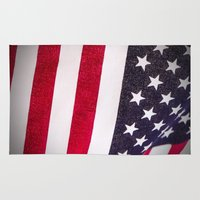america Area & Throw Rugs featuring America by Mary Timman