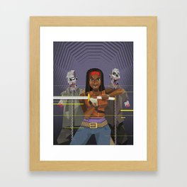 Michonne - The walking Dead Framed Art Print