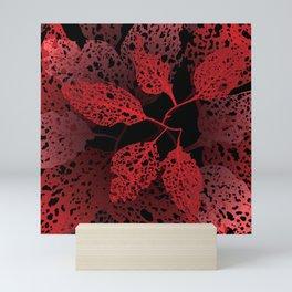 fire autumn Mini Art Print
