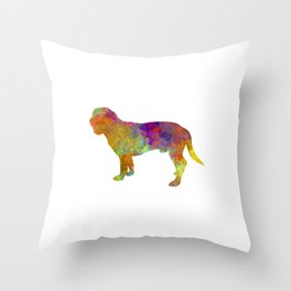 Hanoverian Scenthound in watercolor Throw Pillow