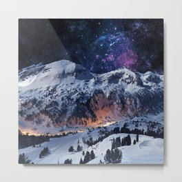 Mountain CALM IN space view Metal Print