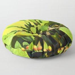 Cactus fruit & yellow Floor Pillow