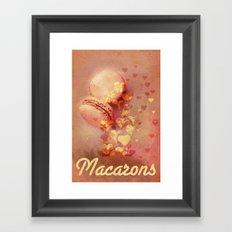 Love Macarons! Framed Art Print
