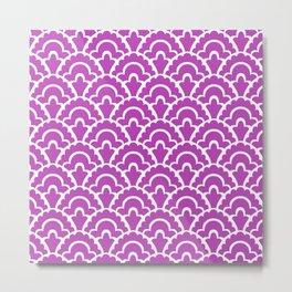 Fan Pattern Magenta 244 Metal Print