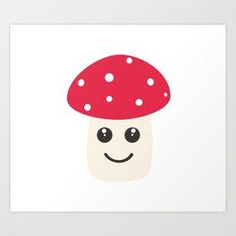 Cute red mushroom Art Print
