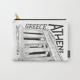 Acropolis in Athens, Greece Architype   Architectural Illustration & Lettering Carry-All Pouch