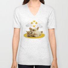 Kitty Wonder Unisex V-Neck