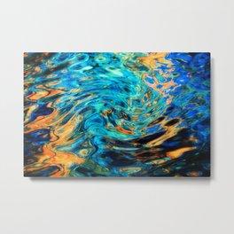 Blue-orange fload Metal Print