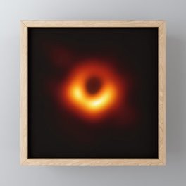 BLACK HOLE - First-Ever Image of a Black Hole Framed Mini Art Print