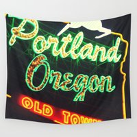 portland Wall Tapestries featuring Portland! by Elle Hanley Photography