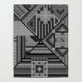 grey knit Poster