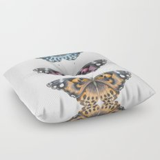 Three Butterflies Floor Pillow