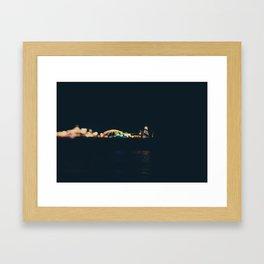 rainbow of lights ... Framed Art Print