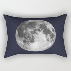 Full Moon on Navy Minimal Design Rectangular Pillow