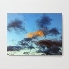 Fishy Cloud Glows in the Sky Metal Print