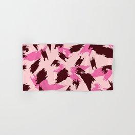 Pink and Brown Jagged Animal Print Hand & Bath Towel