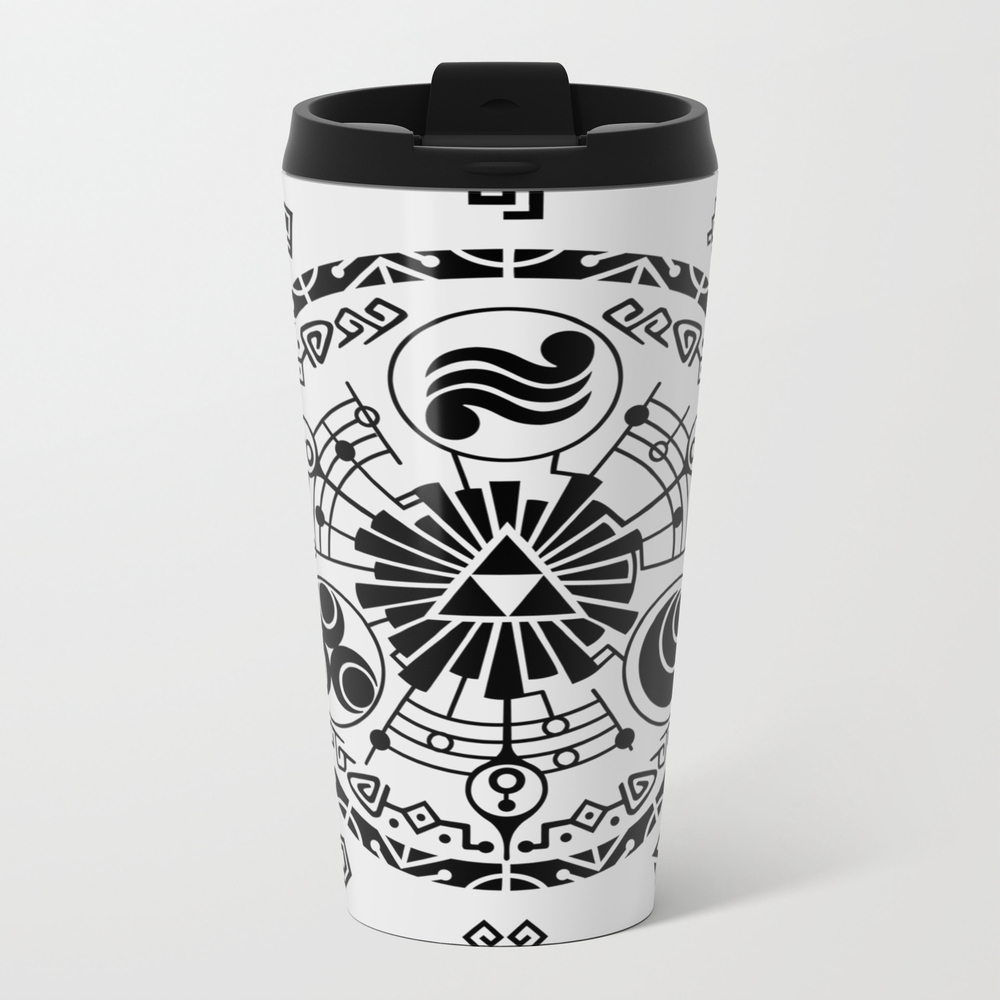 The Legend Of Zelda Skyward Sword Gate Of Time Metal Travel Mug by Amaryn MTM9014355