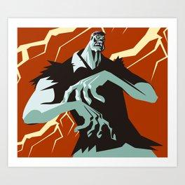 evil zombie monster creature Art Print