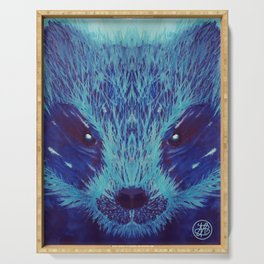 Blue Honey Badger Serving Tray