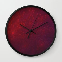 Abstract Fractal Design 8 -  Purple Red Dragon Skin Look Wall Clock