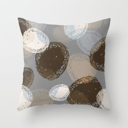 Seed Pods Neutral Color Graphic Pattern Throw Pillow