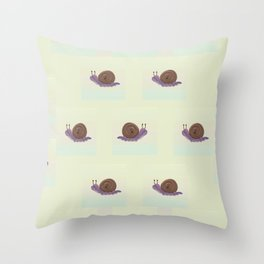 Snail's Trails Throw Pillow
