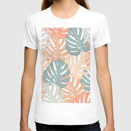 Monstera leaves Jungle leaves Palm leaves Tropical T-shirt