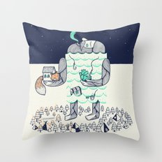 Arrivals Throw Pillow