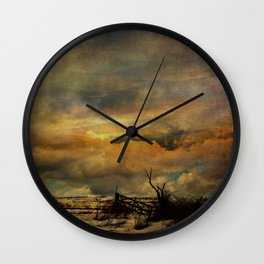 Time on The Mountain Top Wall Clock