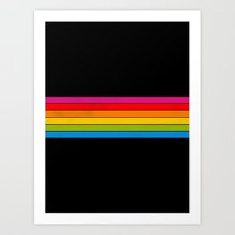 retro camera stripes Art Print