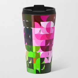 Rosas Moradas 1 Abstract Circles 1 Travel Mug