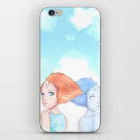 hologram iPhone & iPod Skins featuring Pearl and Hologram (Steven Universe) by artsycuno