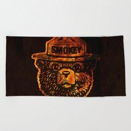 Smokey the Bear Beach Towel