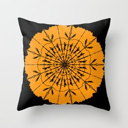 Halloween Spiders Web Bats & Witches Throw Pillow