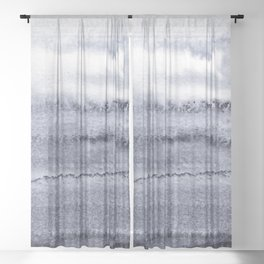 WITHIN THE TIDES - VELVET GREY Sheer Curtain