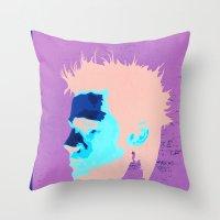 brad pitt Throw Pillows featuring Brad Pitt Digital illustration by Parveen Verma