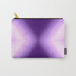 Purple Texture Ombre Carry-All Pouch