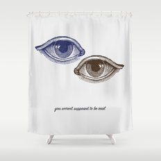 Eyes Both Brown and Blue Shower Curtain