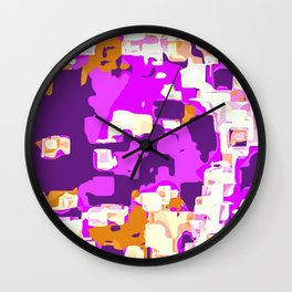 purple and brown painting abstract background Wall Clock