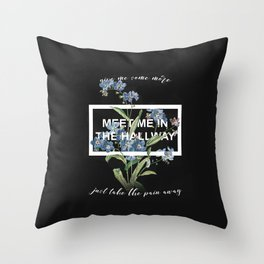 Harry Styles Meet me in the hallway graphic design artwork Throw Pillow