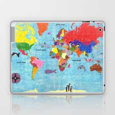 map with animals Laptop & iPad Skin