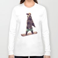 snowboarding Long Sleeve T-shirts featuring Board by Seaside Spirit